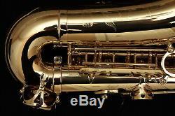 Selmer Paris SeleS AXOS Alto Saxophone Gold Lacquer Finish Brass Barn