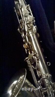Selmer Silver Series III alto sax, custom rebuilt by Kurt Heisig