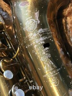 Selmer Super Sax Cigar Cutter Alto Saxophone Vintage Rarity