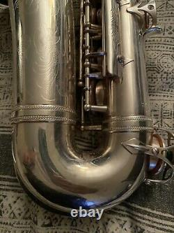 Selmer balanced action alto saxophone 1943 See The Vido How It Souds