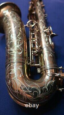 Selmer mark VI, alto saxophone (5 digit). Custom hand engraving. Overhauled