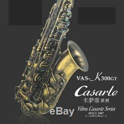 VIBRA Professional Excellent Eb key Curved Alto Saxophone Brass body #0124