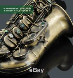 VIBRA Professional Excellent Eb key Curved Alto Saxophone Brass body #0124