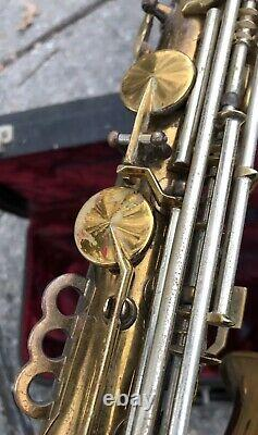 Very Cool Vintage 1930's King Zephyr Alto Saxophone with Case Needs TLC