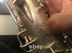 Vintage 1925-26 Conn New Wonder Alto Saxophone With Gear