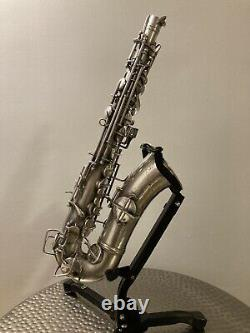 Vintage 1928 Conn Alto Saxophone RARE Silver New Wonder Chu Berry 8M For Repair