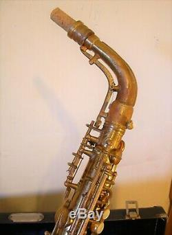 Vintage 1935 Conn Transitional 6M Naked Lady Alto Saxophone Rolled Tone Holes