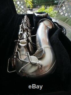 Vintage 1951 Alto Saxophone Conn 6M Naked Lady Silver-Plated #338433521