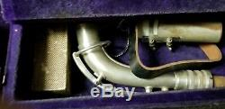 Vintage C G Conn Silver Alto Saxophone 1927