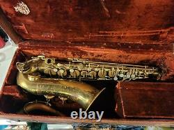 Vintage Martin The Indiana Alto Saxophone. With orig case 1924