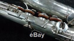 Vintage Original Silver Selmer Paris Modele 26 Alto Saxophone, SN 6476