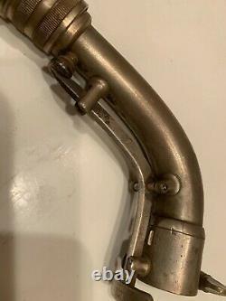 Vintage Silver Conn 6M Naked Lady Transitional Alto Saxophone Underslung Neck