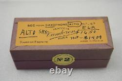Vintage Vandoren #2 Perfecta Diamond Ebonite Alto Saxophone Mouthpiece Sealed