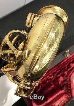 YAMAHA CUSTOM 875 ALTO SAXOPHONE PRO OVERHAUL WithBLACK ROO PADS