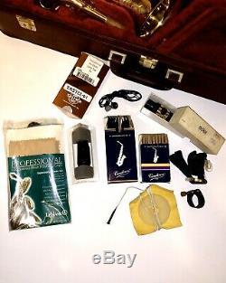 Yanagisawa A-990u A990 Alto Saxophone Leather Case withBNIB Selmer MPCE + Extras